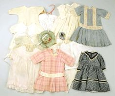 Lot of Antique Doll Clothing. : Lot 610