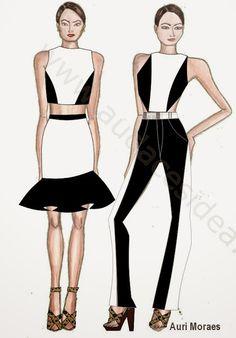 Auriele (desenhos de Moda): MIX de estampas