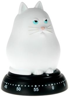 Bengt EK Design White Cat 60 Minute Mechanical Kitchen Timer for sale online Crazy Cat Lady, Crazy Cats, Egg Timer, Kitchen Timers, Cat Decor, Cat Design, Kitchen Gadgets, Household Items, Cute Gifts