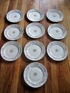Antique China Dinner Plates // Set of Four (4) Edwin M. Knowles 22 ...