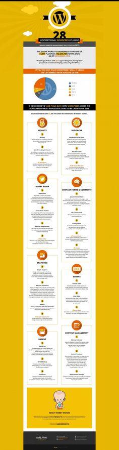 28 Inspirational WordPress Plugins - #infographic