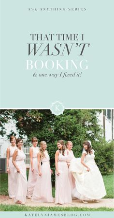 That Time We Weren't Booking And How We Fixed It | Virginia Wedding Photographer | Katelyn James Photography