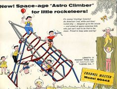 """Space-age """"Astro Climber"""" for little rocketeers! Hmm..maybe for the office yard? #SEORocket"""