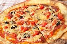 Receita de Pizza de liquidificador light em receitas de salgados, veja essa e outras receitas aqui!