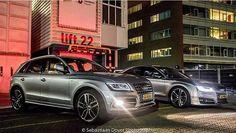 Shall we say: Audi S13? Color matching #Audi #SQ5 #S8 oooo : @scdoyerphotography oooo are you #audidriven? - for repost & like oooo #AudiSQ5 #AudiS8 #Q5 #AudiQ5 #AudiA8 #A8 #quattro #silver #silverAudi #Audicolor #carsofinstagram #amazing #beautiful #audiafterdark #AudiLED #utrecht