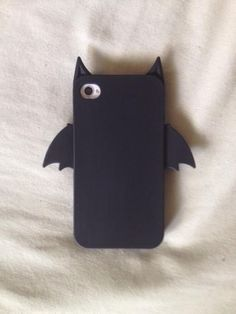 accessories, adorable, animals, apple, bat, black, cute, dark, ears, fashion, goth, iphone, phone, phone case, wings