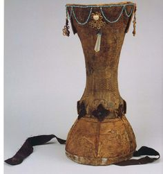 Yuan dynasty (1271-1368), Mongol noblewoman's boghtaq headdress. China Silk Museum