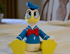 Disney's Donald Duck with Movable Arms and Legs Made in Sri Lanka by Schmid - Music Box Plays Yankee Doodle Needs Repair by DJsVintageCache on Etsy