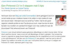 Goed stukje van Wanda Catsman over het maken van een Pinterest CV!