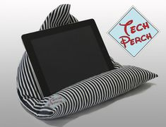 iPad tablet Kindle e-reader bean bag, cushion, pillow, stand, striped jersey, father, men, great birthday gift, Tech Perch on Etsy, £15.99