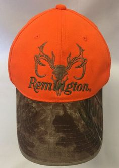 3477db828debc Remington Country Neon Blaze Orange Camouflage Hunting Adjustable Hat Cap