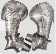 Protecciones de brazos, de armadura completa - c 1490.