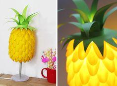 Make It: Plastic Spoon Pineapple Lamp DIY » Curbly   DIY Design Community