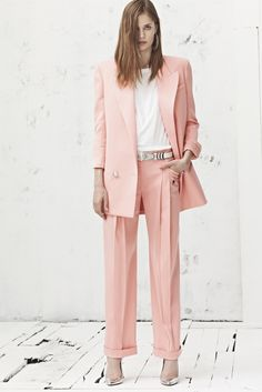 rose quartz blazer with pants