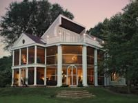 """Nothing more wonderful than an """"Enchanted"""" summer evening. Summer Evening, Life Magazine, Rental Homes, Cabin, Vacation Rentals, Mansions, Luxury, Architecture, House Styles"""