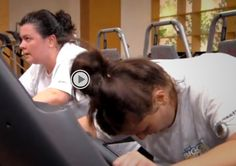 Working hard during Jillian's workout! Dannie's armband is tracking every calorie she torches. The episode is here: http://www.nbc.com/the-biggest-loser/video/cut-the-junk/n31563/