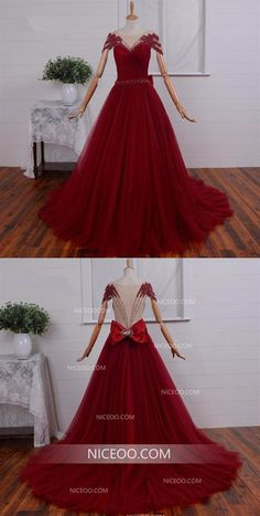 Burgundy Off Shoulder Open Back Tulle Wedding Dresses Best Bride Gown With Bow Inexpensive Bridesmaid Dresses, Cheap Wedding Dresses Online, Affordable Wedding Dresses, Cheap Prom Dresses, Nice Dresses, Ceremony Dresses, Weding Dresses, Bordeaux, Best Bride
