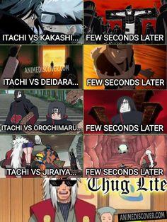 Itachi cant afford to fight against Master jiraiya