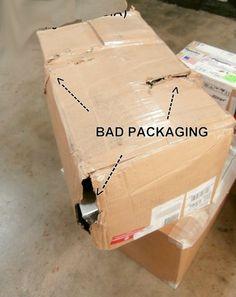 Customer caused issues, power supply repair facility. Bad packaging by the customer.  http://www.powersupplyrepair.net