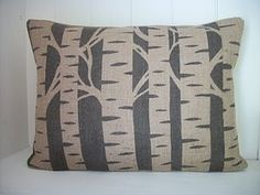 Silver Birch Hand Printed Cushion - patterned cushions