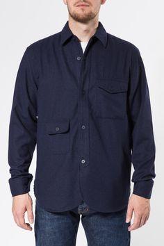 Han Kjøbenhavn - Army Shirt Indigo large-1