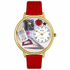 Whimsical Watches Unisex G0640007 Math Teacher Red Leather Watch Whimsical Watches. $40.99