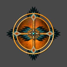 Check out this awesome 'Southwest+Native+American+Medicine+Wheel+Mandala' design… Native American Medicine Wheel, Native American Wolf, Native American Tattoos, Native American Patterns, Native American Design, Native Design, Native American Beadwork, American Indian Art, Native American History