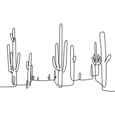 Cactus Continuous Line Drawing Vector Vector and PNG Single Line Drawing, Continuous Line Drawing, Line Drawing Art, Contour Line Drawing, Botanical Line Drawing, Outline Art, Outline Drawings, Cactus Outline, Hand Outline