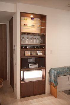 TANA copa de vino rack de almacenamiento y rack de audio de CD de almacenamiento de botellas