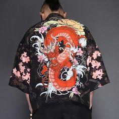 Japanese Embroidery Kimono 2019 new mens kimono japanese clothes streetwear Dragon Printed casual kimonos jackets harajuku japan style cardigan outwear - Male Kimono, Kimono Shirt, Cardigan Shirt, Kimono Jacket, Yukata Kimono, Kimono Style, Japanese Yukata, Japanese Outfits, Japan Fashion