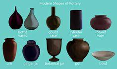 Vase Shape Names Pottery and vase shapes