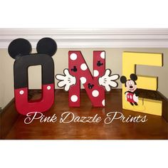 Oh-toodles! Someone is turning one! Mickey Mouse letters for the birthday boy! Mickey 1st Birthdays, Mickey Mouse First Birthday, Mickey Mouse Clubhouse Birthday Party, Mickey Mouse Party Decorations, Mickey Mouse Parties, Mickey Party, Minnie Mouse Gifts, 1st Birthday Themes, 1st Boy Birthday