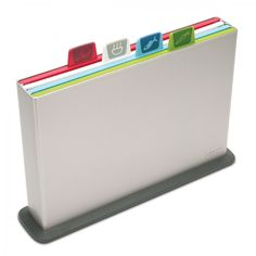 Joseph Joseph Index™ | 4 colour-coded chopping board and storage case