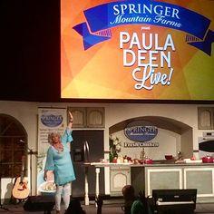 Paula Deen's live show in Savannah was a hoot! Savannah Georgia Homes, Savannah Chat, Good Neighbor, Paula Deen, Our Lady, 30 Years, Insight, Tiffany, Management