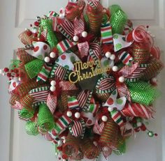 Hey, I found this really awesome Etsy listing at http://www.etsy.com/listing/161972353/christmas-wreath-deco-mesh-wreath-door