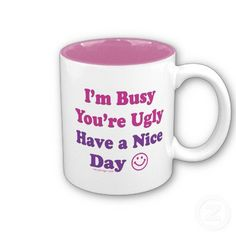 I'm Busy You're Ugly Have a Nice Day
