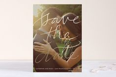 Boutique Foil-Pressed Save the Date Cards by Laura Condouris at minted.com