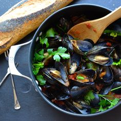 Make this Mussels Marinara or Fra Diavolo…your choice, either way, you'll devour this AND the bread!  The sauce is amazing!