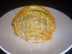 Comment faire un dôme (coque) en caramel fileté? technique de pâtisserie