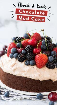 Chocolate Mud Cake, Flourless Chocolate Cakes, Chocolate Frosting, Chocolate Recipes, Chocolate Hazelnut, Frosting Recipes, Cupcake Recipes, Baking Recipes, Cupcake Cakes