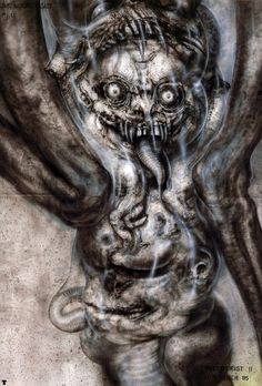 H.R. Giger Art Paintings | Giger » hr-giger-pII-the-great-beast-p14