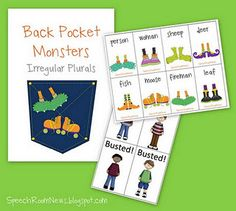 Irregular Plurals Game. Free Download. Repinned by SOS Inc. Resources.  Follow all our boards at http://pinterest.com/sostherapy  for therapy resources.