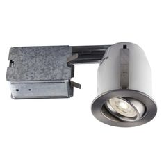 Bazz Lighting 313LA Led Mini 3.75 GU10 Adjustable Trim Integrated Recessed Fixt, Grey metal