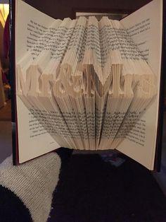 Mr and Mrs Mr&Mrs Book Fold Folding Pattern. Free by Foldilocks