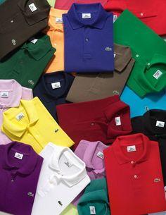 Lacoste Men's Short Sleeve Classic Pique Polo Shirt, Pre-Owned Camisa Lacoste, Lacoste Polo Shirts, Polo T Shirts, Mode Polo, Lacoste Clothing, Polo Shirt Outfits, Clothing Photography, Pique Polo Shirt, Mama Shirt