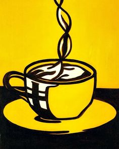 Roy Lichtenstein  Cup of Coffee  1961 Are you an artist? Are you looking for one? Join b-uncut, the Art Exchange and find a business ! art.blurgroup.com