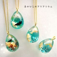 Resin ocean necklace