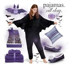 Bat pyjama :-) by amisha73 on Polyvore featuring moda, DKNY, Aviva Stanoff, Vosges and LovelyLoungewear