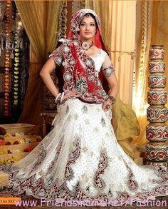 wedding lehenga collection for 2013 | Bridal White Lehenga Collection 2013 2014 Fashion