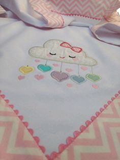 Applique Patterns, Applique Designs, Embroidery Designs, Quilt Baby, Baby Embroidery, Machine Embroidery, Baby Sheets, Baby Layette, Flannel Blanket
